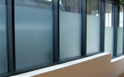 Commercial window frosting
