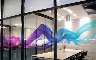 Office window tinting decorative film