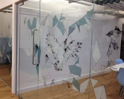 decoratove window films office and commercial space