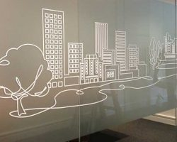 window frosting vinyl cut